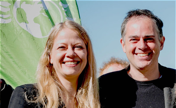 Sian Berry and Jonathan Bartley | Credit: Green Party