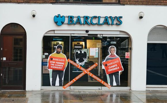 Greenpeace activists targeted 97 Barclays branches across the UK in protest at the bank's coal funding | Credit: Greenpeace