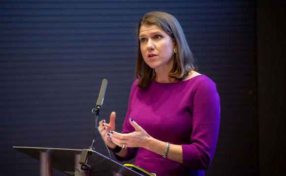 Liberal Democrat leader Jo Swinson speaking at the BusinessGreen Leaders Summit last month | Credit: Incisive Business Media