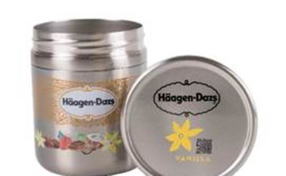 Haagen-Dazs ice cream is available in a reusable steel container through Loop