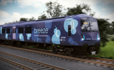 Breeze is a train powered by hydrogen fuel cells, emitting only water