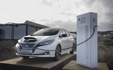 Nissan's Leaf (pictured) and e-NV200 models are both capable of vehicle-to-grid charging