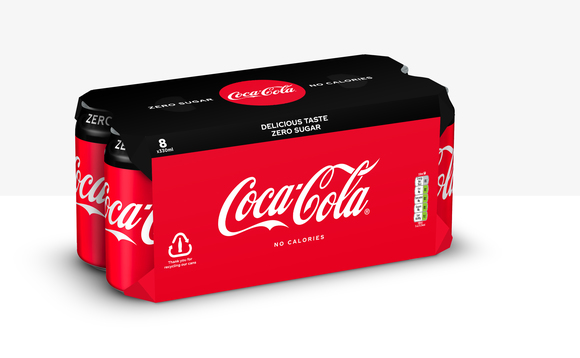 A mock up of the cardboard wrapping for Coca-Cola multipacks | Credit: CCEP