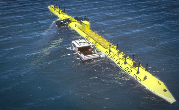 The fundraise will be used to build the firm's first Orbital O2 2MW floating tidal stream turbine | Credit: Orbital Marine Power
