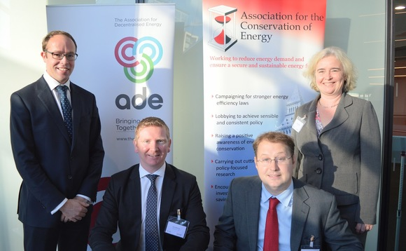 Tim Rotheray (standing, left) and Joanne Wade (standing, right) will act as director and deputy director respectively of the merged body
