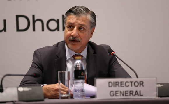 Adnan Z Amin at IRENA's eighth Assembly earlier this month | Credit: IRENA