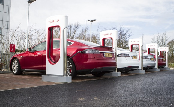 Tesla superchargers are one sign of how the transport network is changing across the UK | Credit: Tesla