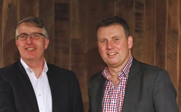 (L-R) GoodBrand's Dean Sanders with Stuart McLachlan, Anthesis Group CEO | Credit: Anthesis Group
