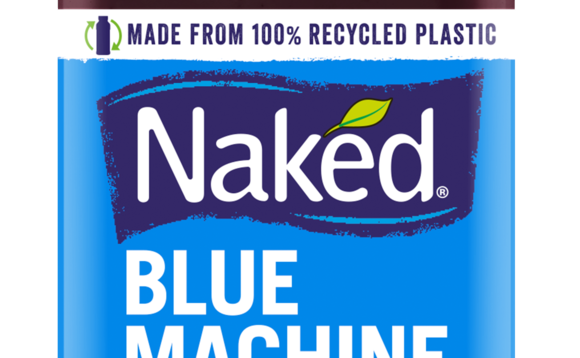 Naked bottles are now made from 100 per cent recycled plastic