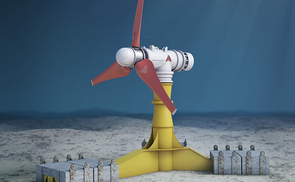 Artistic impression of one of the MeyGen tidal turbines | Credit: Atlantis Resources