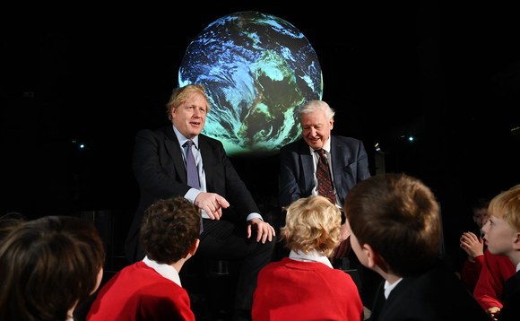 Boris Johnson posted a photo of him with Sir David Attenborough to mark World Environment Day today | Credit: Number 10