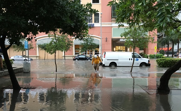In Miami, rising sea levels are already causing frequent floods downtown | Credit: Phillip Pessar