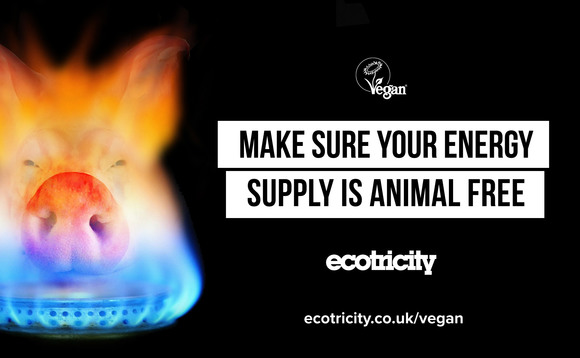Ecotricity's latest advert promoting its 'vegan gas'