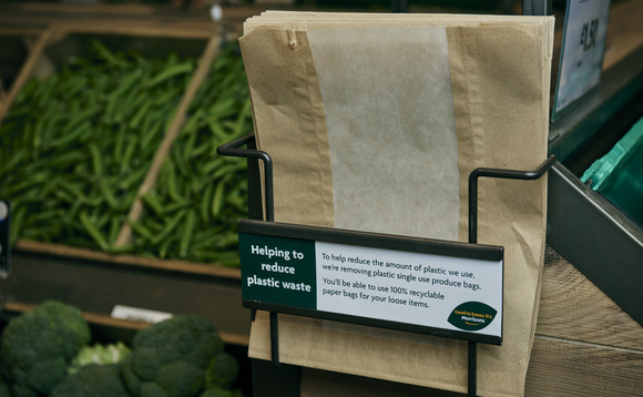By the end of the summer all UK stores will use recyclable paper bags for fruit and veg | Credit: Morrisons