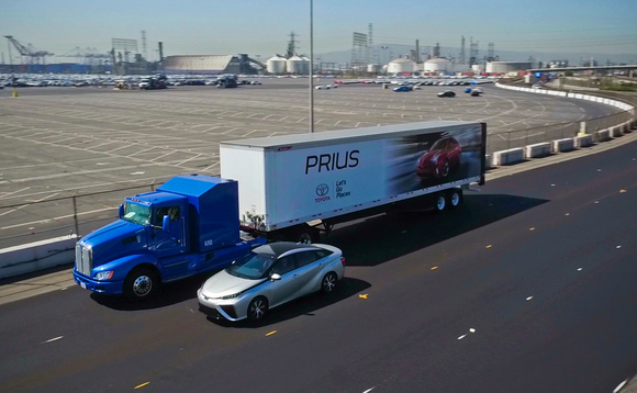 Toyota is testing its zero emission hydrogen fuel cell truck in California | Credit: Toyota
