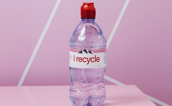 All 75cl and 1.5cl Evian bottles in the UK to be made from 100 per cent recycled plastic from next month | Credit: Danone