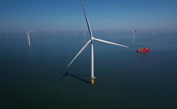 The Race Bank offshore wind farm off the coast of Norfolk | Credit: Ørsted