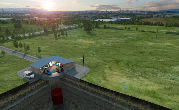 A CGI image of a Gravitricity energy storage plant | Credit: Gravitricity