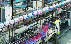 The factory in Evian-les-Bains in Haute-Savoie, France bottles alpine water and ships worldwide. Credit: Evian