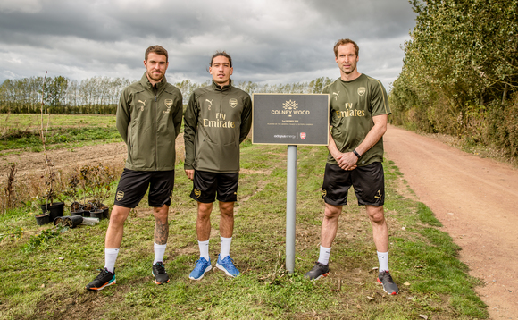 (L-R) Aaron Ramsey, Hector Bellerin and Petr Cech | Credit: Arsenal FC