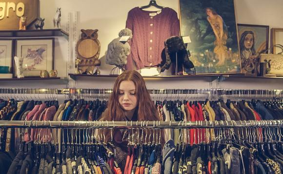 Hubbub poll shows 30 per cent of young people now use charity shops to help curb the environmental impact of their wardrobes
