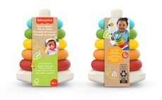 The  Fisher-Price Rock-a-Stack was first sold in 1960, and from this year is being made with sugarcane plastic