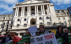 Protesters at the Bank of England in 2019 | Credit: Positive Money