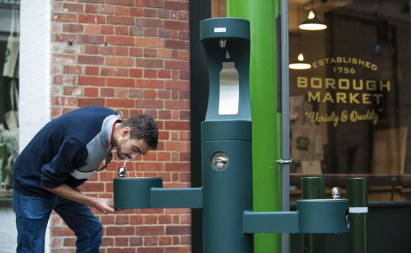 Borough Market in London has introduced free public drinking fountains and phased out the sale of plastic water bottles | Credit: Borough Market