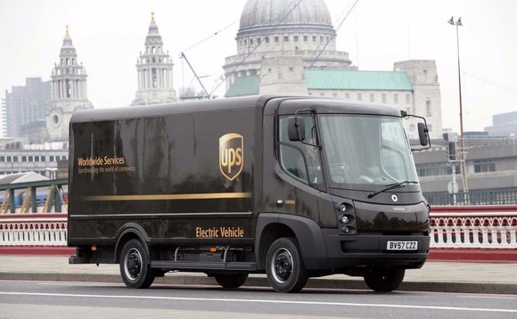UPS is trialling the use of electric vans to make greener deliveries