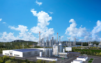 A visualisation of a Carbon Clean facility | Credit: Carbon Clean