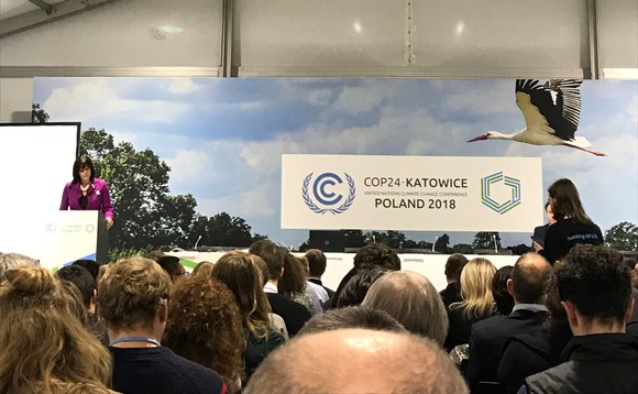 Perry battles protestors at COP24 | Credit: Incisive Business Media