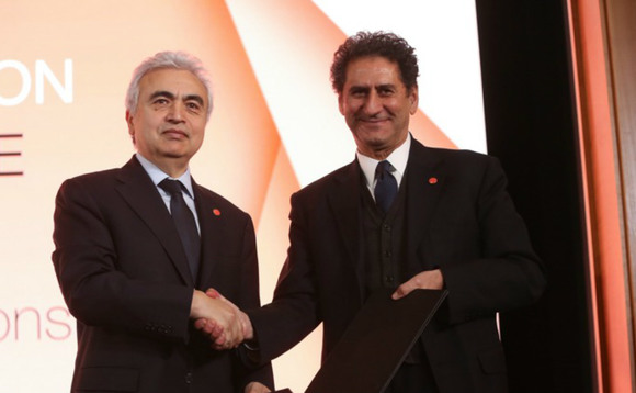 (L-R) IEA's Fatih Birol IEA and IRENA's Francesco La Camera | Credit: IRENA