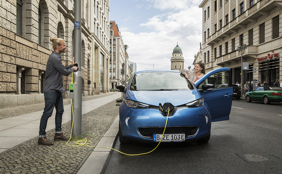 Lamp post EV chargers like these already installed in London will be rolled out nationwide | Credit: Ubitricity