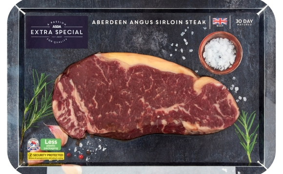 Asda's new steak trays are made of cardboard / Credit: Asda