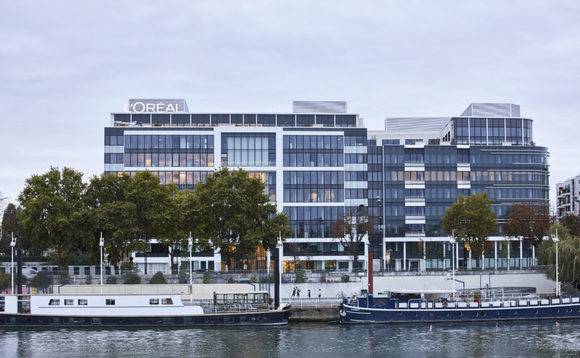 L'Oréal headquarters on the bank of the River Seine in Paris