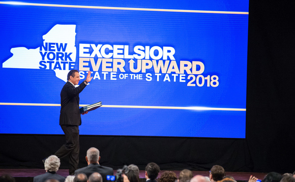 Governor Andrew Cuomo delivers 2018 State of the State Address | Credit: Philip Kamrass)
