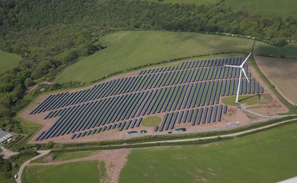 The 5MW solar farm at Parc Cynog