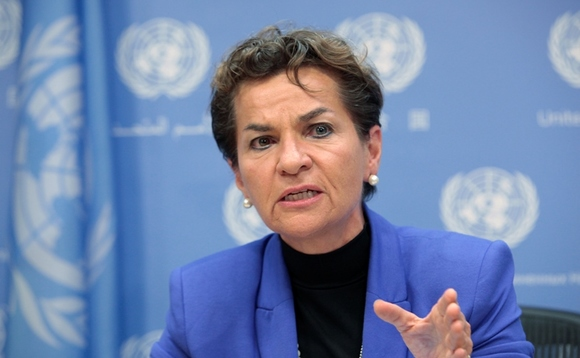 UN climate chief calls for tripling of clean energy investment