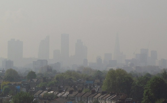 London air pollution seen on a day before the coronavirus outbreak