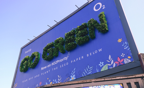 O2's living billboard installed in Shoreditch advertises firm's eco-themed customer rewards week | Credit: O2