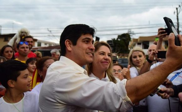 Carlos Alvarado Quesada on the campaign trail / Credit: Facebook/Carlos Alvarado Quesada