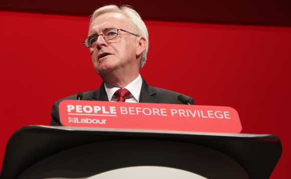Shadow Chancellor John McDonnell speaking at the Labour Party conference earlier this year | Credit: Socialist Appeal