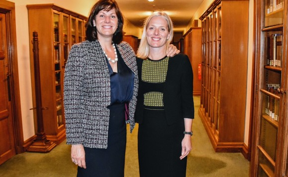(L-R) UK climate change minister Claire Perry with Canada's Catherine McKenna