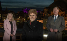 First Minister Nicola Sturgeon alongside Bank chair Willie Watt and CEO Eilidh Mactaggart | Credit: Scottish National Investment Bank