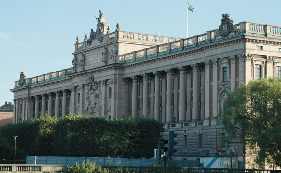 Sweden's parliament building in Stockholm