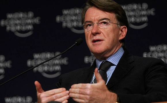 Lord Mandelson: UK risks losing low carbon industry leadship position