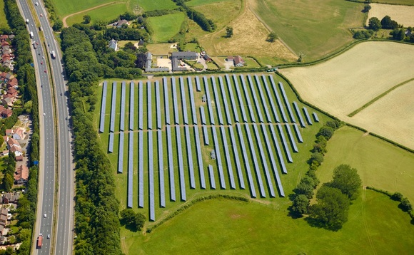 Hazel Solar Farm in South Wales - CREDIT: PSH Operations