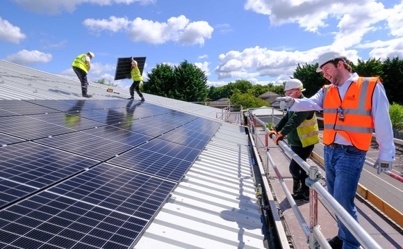 Solar panels being installed on West Berkshire council buildings Credit: Abundance
