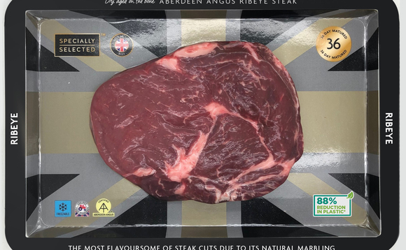 The cardboard packaging for steaks is being rolled out from September | Credit: Aldi