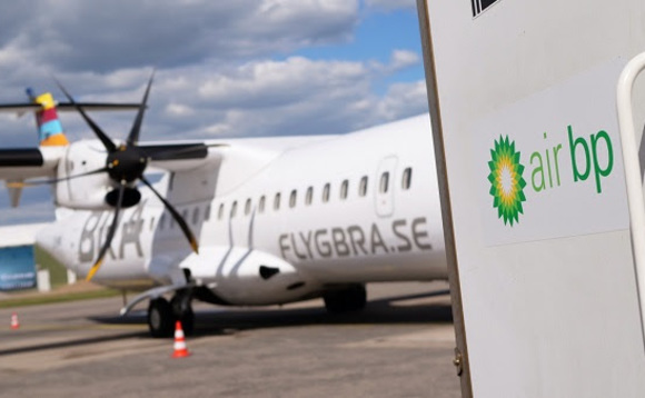 Air BP fuels Braathens Regional Airlines' ATR 72-600 with sustainable aviation fuel at Halmstad City Airport